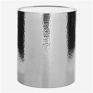 Safavieh Polonium 20.9-in Silver Drum Table