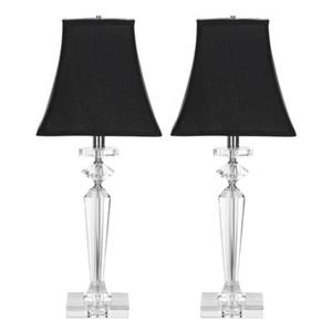 Safavieh 25-in Clear/Black Table Lamp (Set of 2)