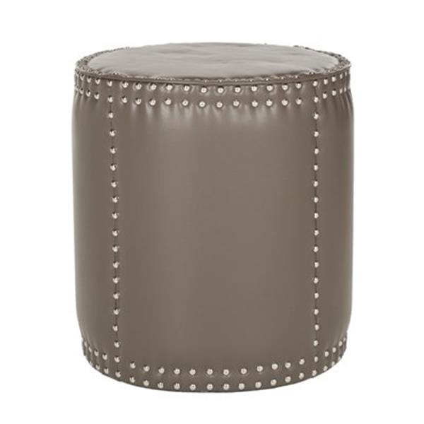 Safavieh Paula 20.00-in x 18.50-in Clay Faux Leather Ottoman