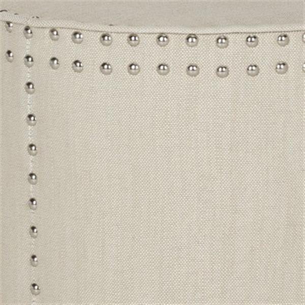 Safavieh Paula 20.00-in x 18.50-in Off-White Linen Ottoman