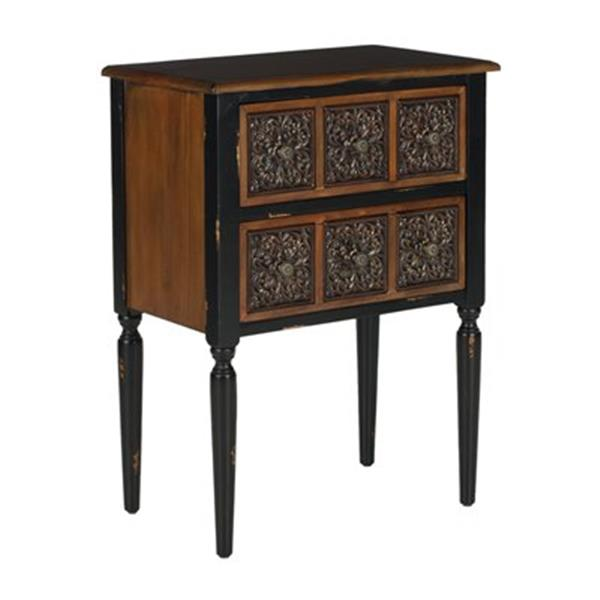 Safavieh Kenneth 30.12-in Distressed Black/Brown Side Table