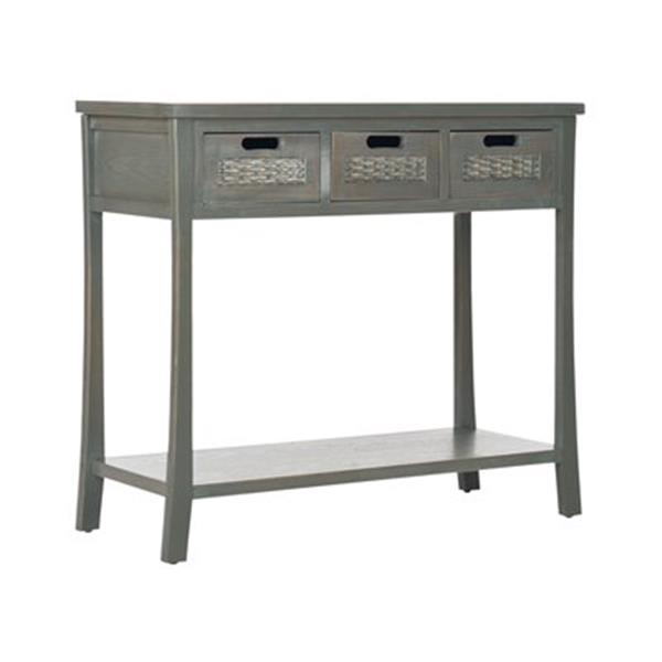 Safavieh Autumn 3-Drawer Rectangular Pine French Grey Console Table