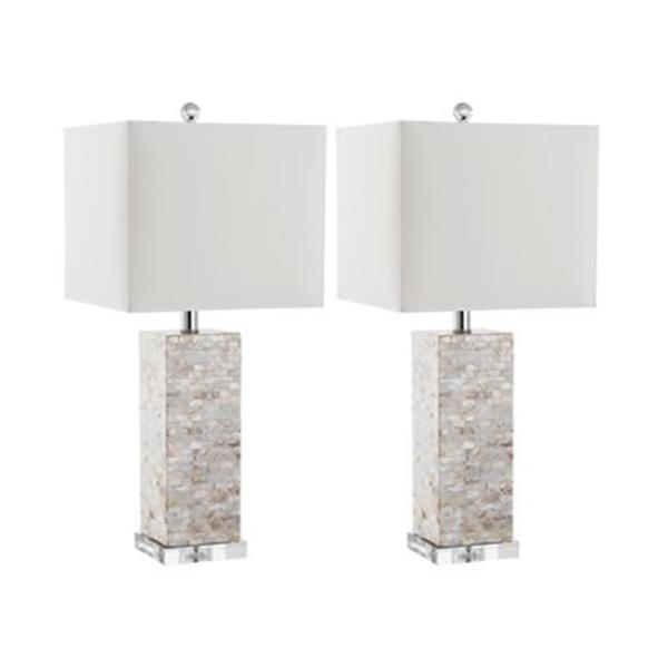 Safavieh 25-in Shell Homer Table Lamps (Set of 2)