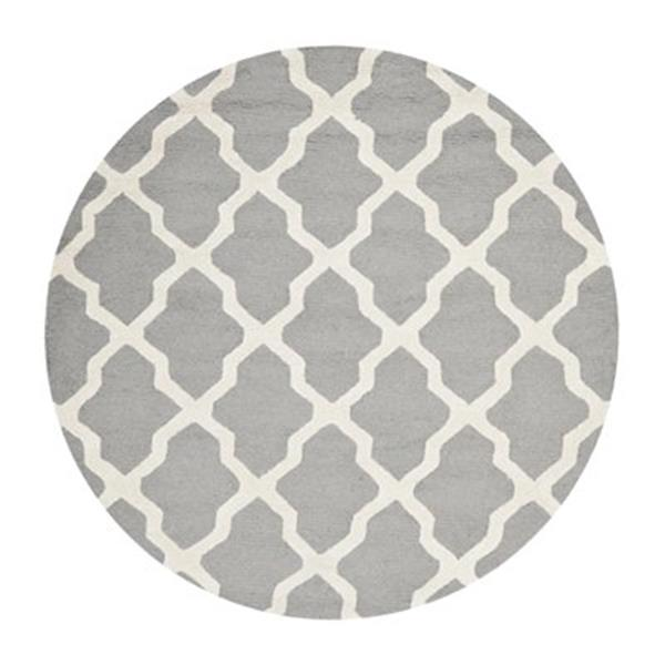Safavieh Cambridge Silver and Ivory Area Rug,CAM121D-6R