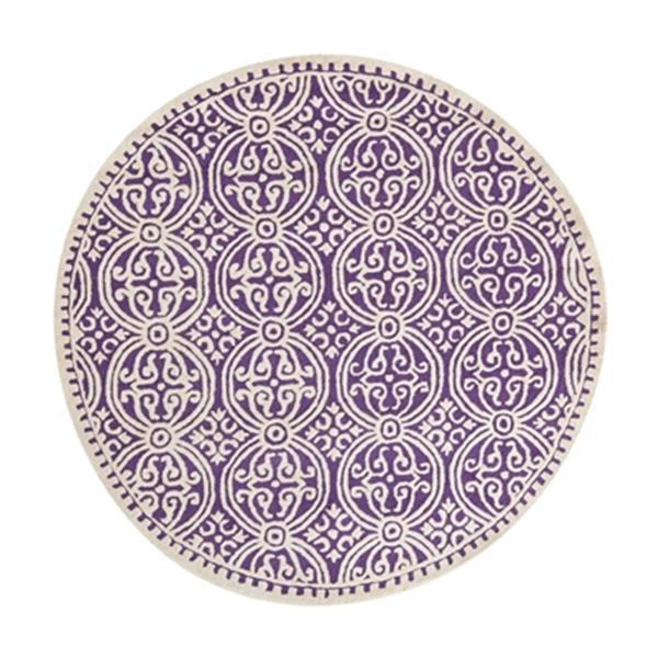 Safavieh Cambridge Purple and Ivory Area Rug,CAM123K-6R