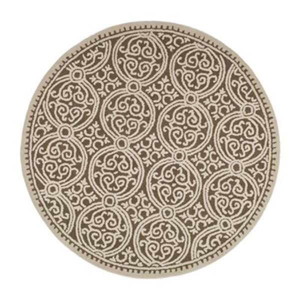 Safavieh Cambridge Brown and White Area Rug,CAM232A-6R