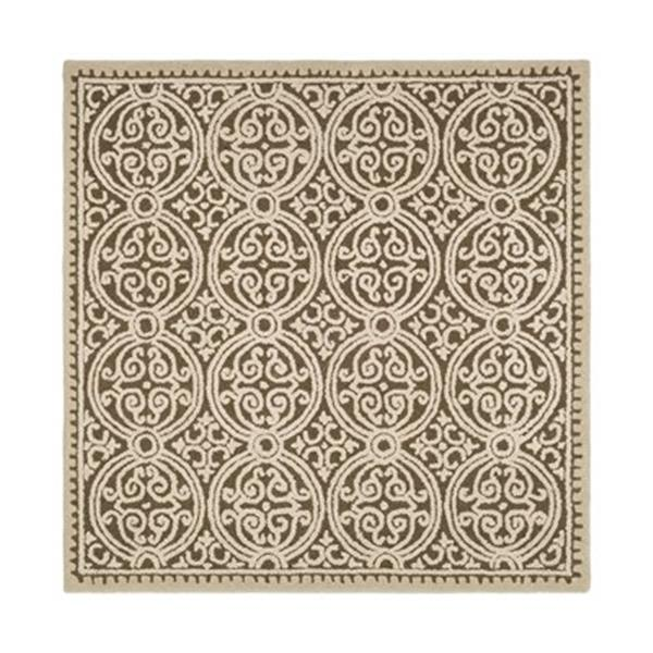 Safavieh Cambridge Brown and White Area Rug,CAM232A-6SQ