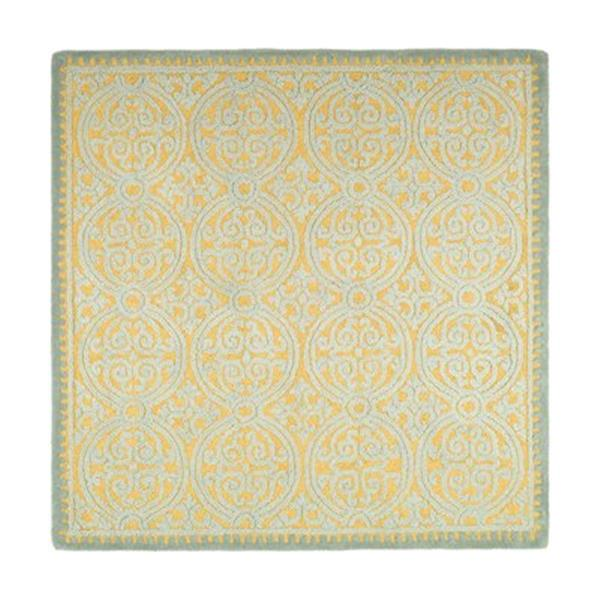 Safavieh Cambridge Blue and Gold Area Rug,CAM234A-6SQ