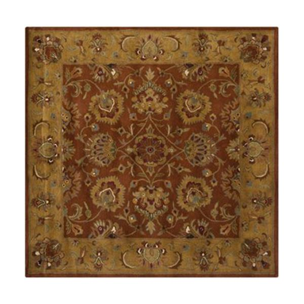 Safavieh HG820A Heritage Area Rug, Red / Natural,HG820A-6SQ