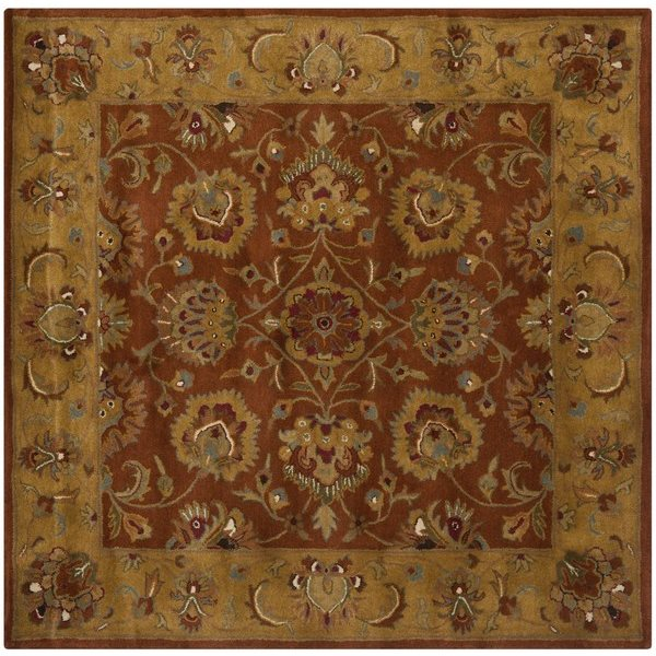 Safavieh HG820A Heritage Area Rug, Red / Natural,HG820A-6SQS