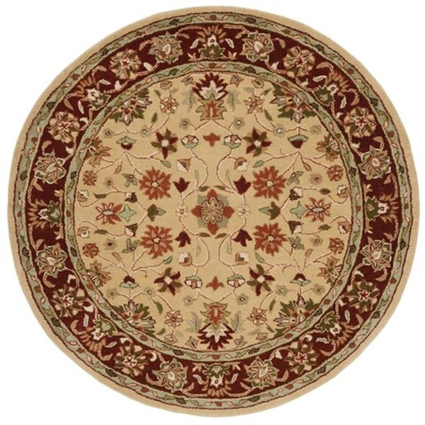 Safavieh HG965A Heritage Area Rug, Ivory / Red,HG965A-6R