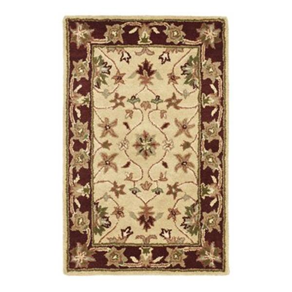 Safavieh HG965A Heritage Area Rug, Ivory / Red,HG965A-6SQ