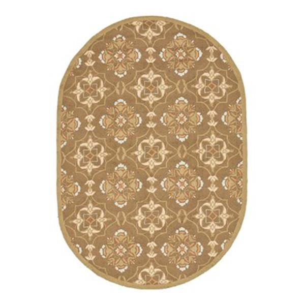 Safavieh HK376C Chelsea Area Rug, Brown / Green,HK376C-5