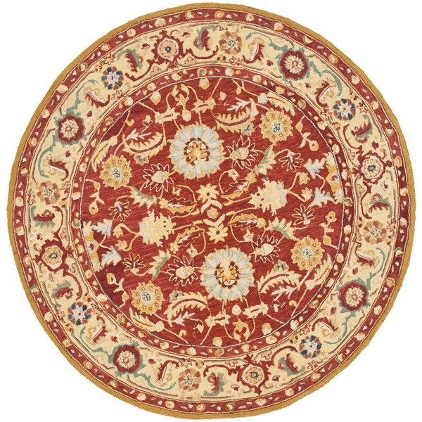 Safavieh Chelsea Red and Ivory Area Rug,HK805A-5R