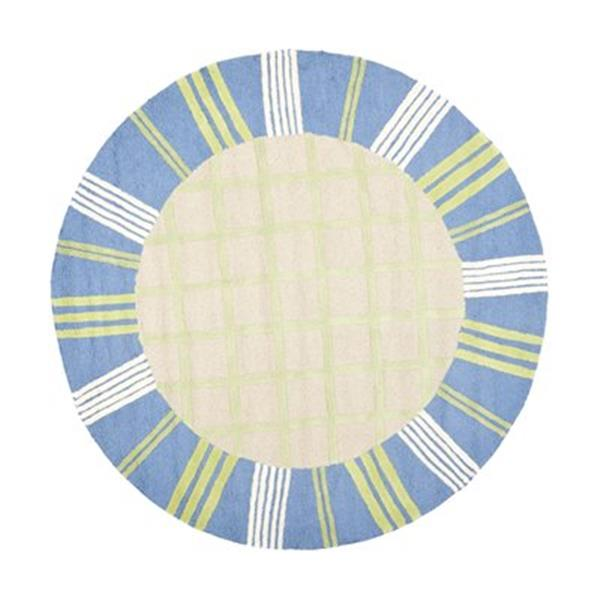 Safavieh Kids 6-ft Round Taupe and Blue Area Rug