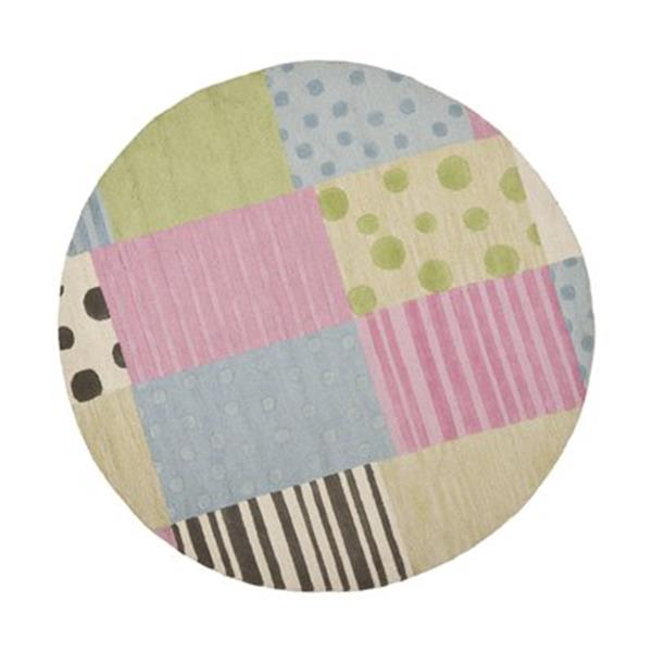 Safavieh Kids 6-ft Round Pink and Blue Area Rug