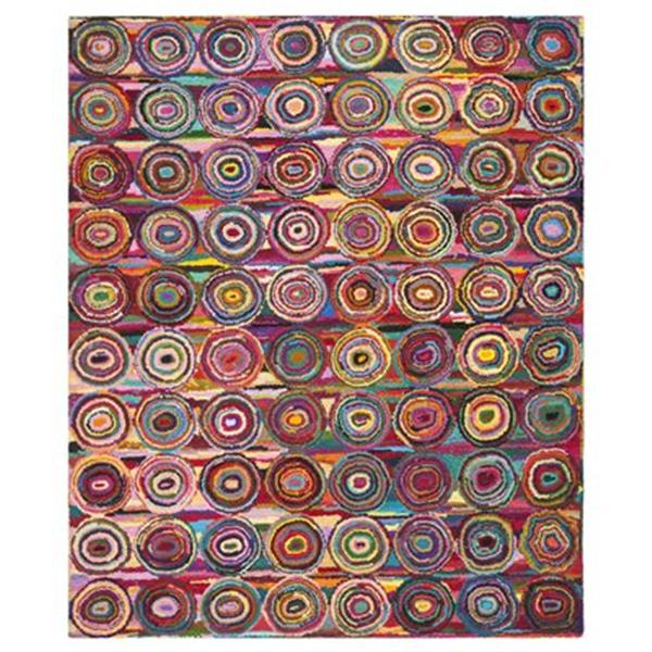 Safavieh Nantucket 5-ft x 8-ft Pink and Multi-Colour Area Rug
