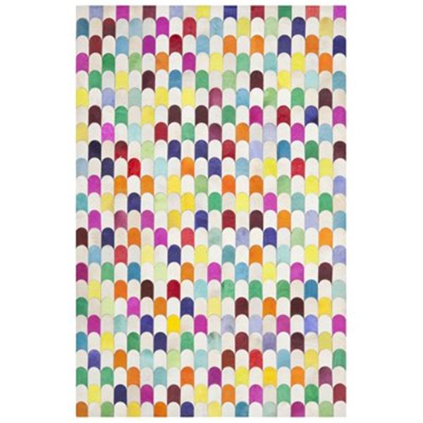 Safavieh Studio Leather 3-ft x 5-ft Ivory and Multi-Colour Area Rug