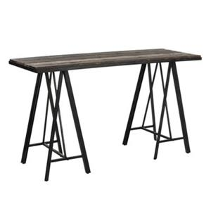 Safavieh Troy Sawhorse Black Rectangular Console Table