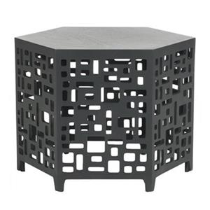 Safavieh Kelby 17.5-in Charcoal Grey End Table