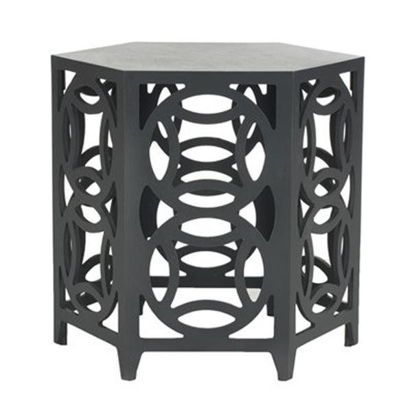 Safavieh Natanya 22.2-in Charcoal Grey Side Table