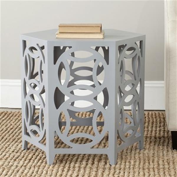 Safavieh Natanya 22.2-in Pearl Blue Grey Side Table