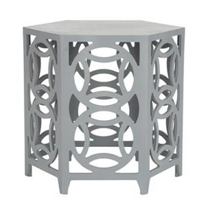 Safavieh Natanya 22.2-in Pearl Blue Grey Side Table
