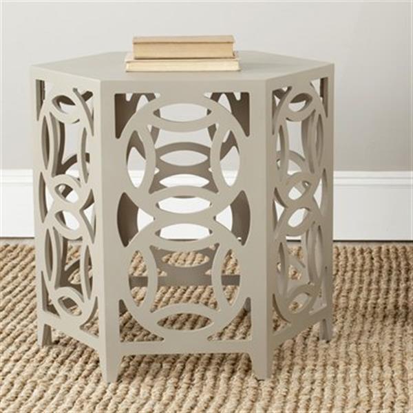 Safavieh Natanya 22.2-in Pearl Taupe Side Table