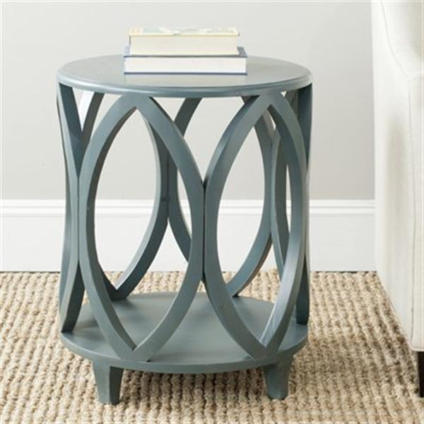 Safavieh Janika 24.5-in Dark Teal Pine Accent Table