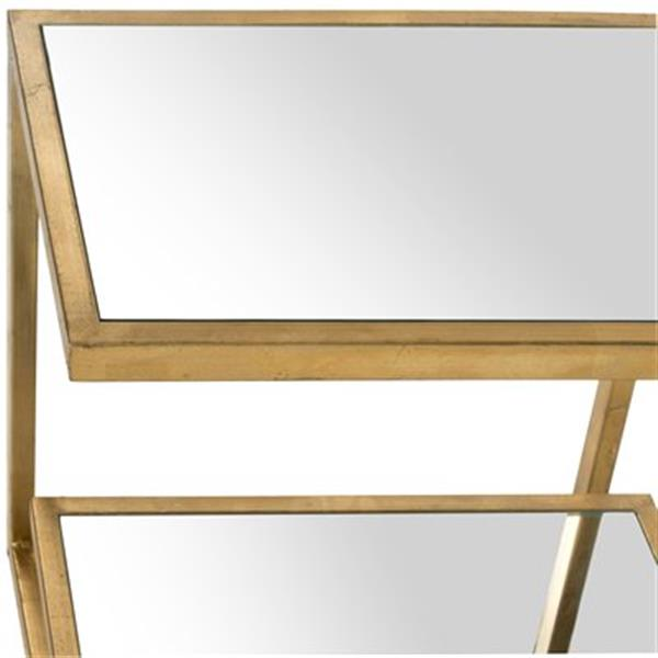 Safavieh Kennedy 21.5-in Gold/Mirror Accent Table