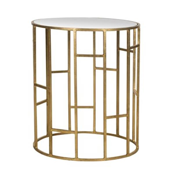 Safavieh Doreen 21-in Gold/Mirror Accent Table