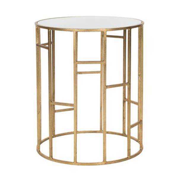 Safavieh Doreen 21-in Gold/White Glass Accent Table