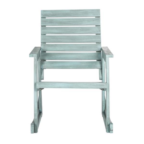 Safavieh 34.7-in x 24.4-in Chinese Blue Alexei Rocking Chair