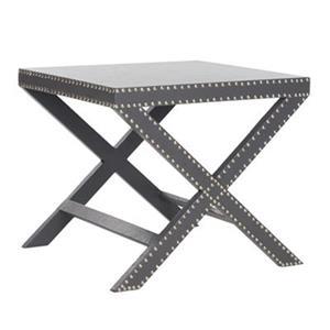 Safavieh Jeanine 20.5-in Gray X Bench Side Table