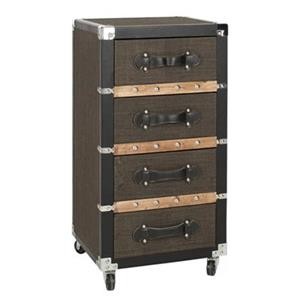 Safavieh Brent Brown Three Drawer Rolling Chest