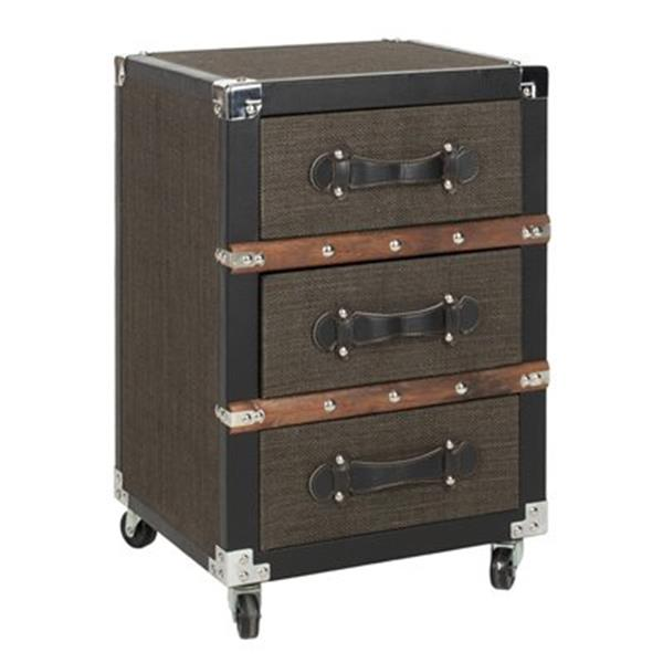Safavieh Lewis Brown Three Drawer Rolling Chest