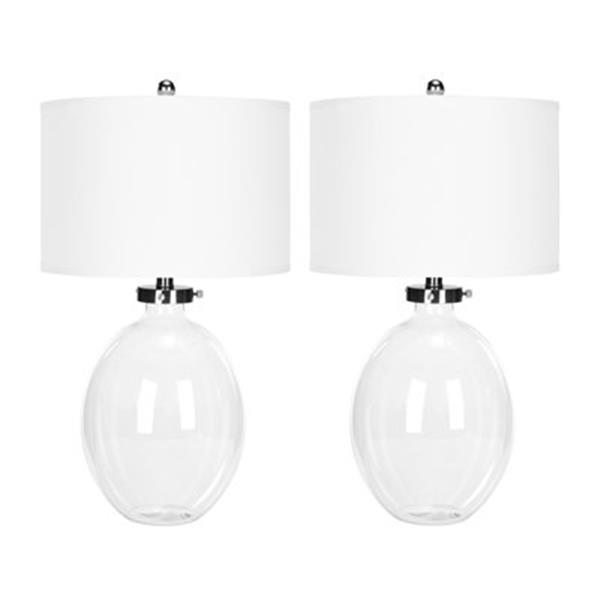 Safavieh 26-in Clear Glass Neville Table Lamps (Set of 2)