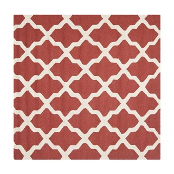 Safavieh Cambridge 6-ft Square Rust and Ivory Area Rug