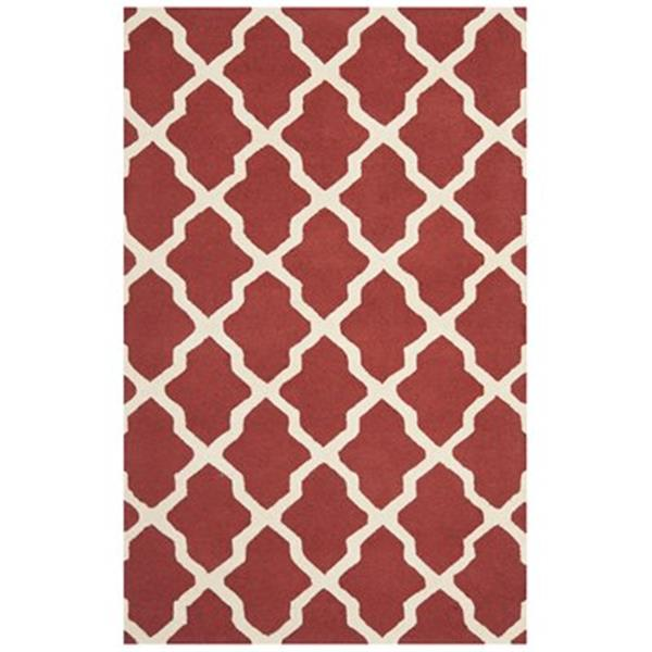 Safavieh Cambridge 5-ft x 8-ft Rust and Ivory Area Rug