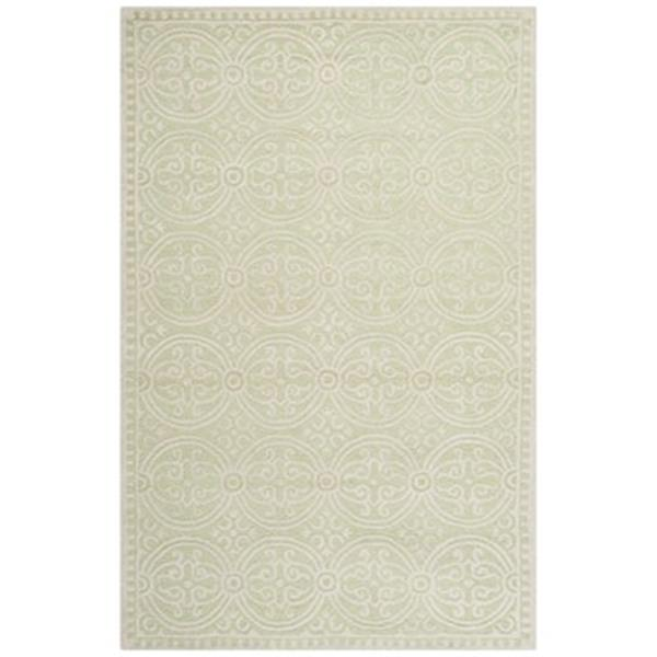 Safavieh Cambridge 5-ft x 8-ft Light Green and Ivory Area Rug