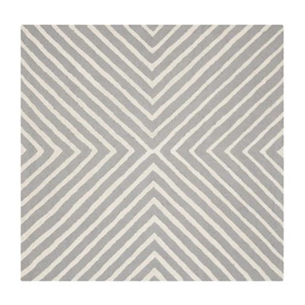 Safavieh Cambridge 6-ft Square Silver and Ivory Area Rug