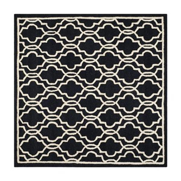 Safavieh Cambridge 6-ft Square Black and Ivory Area Rug