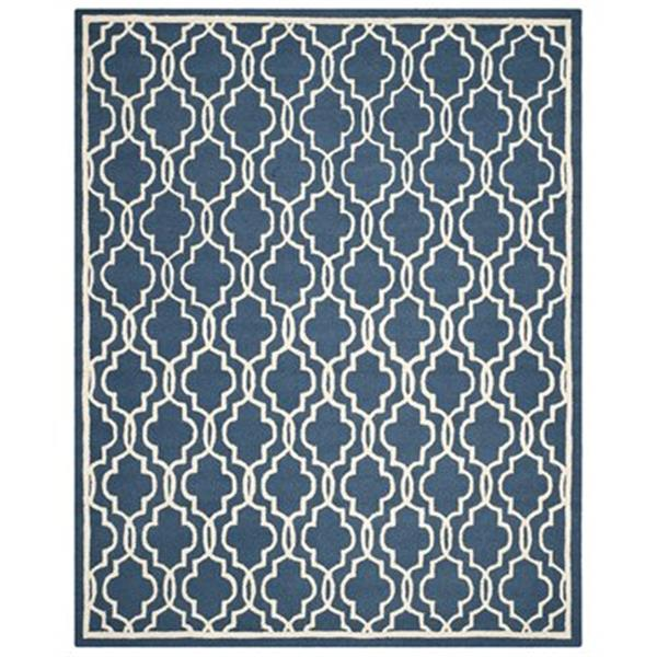 Safavieh Cambridge 6-ft Square Navy and Ivory Area Rug