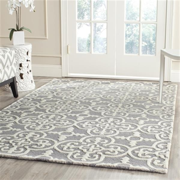 Safavieh Cambridge 5-ft x 8-ft Silver and Ivory Area Rug