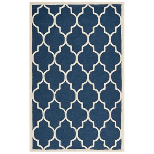 Safavieh Cambridge 5-ft x 8-ft Navy and Ivory Area Rug