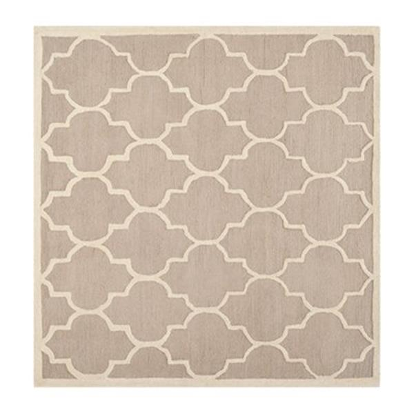 Safavieh Cambridge 6-ft Square Beige and Ivory Area Rug
