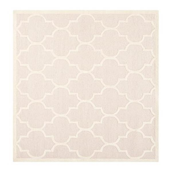 Safavieh Cambridge 6-ft Square Light Pink and Ivory Area Rug