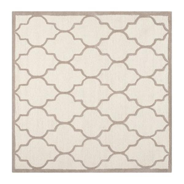 Safavieh Cambridge 6-ft x 6-ft Square Ivory and Beige Rug