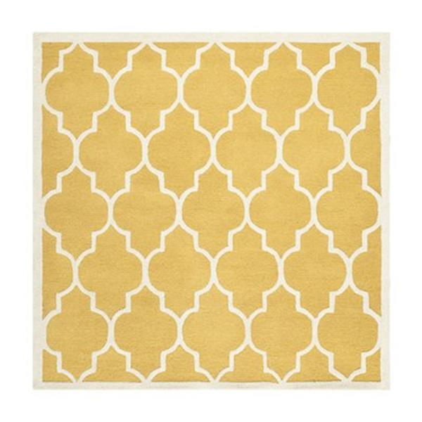 Safavieh Cambridge 6-ft Square Gold and Ivory Area Rug