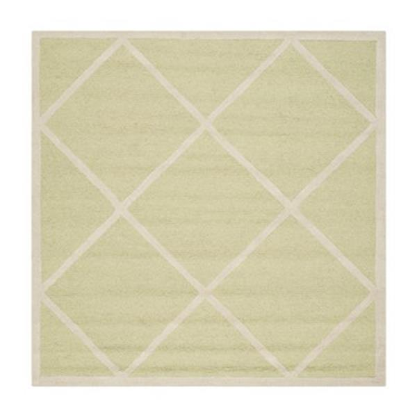 Safavieh Cambridge 6-ft Square Light Green and Ivory Area Rug